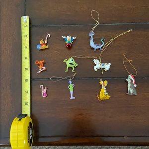 Set of  10 Various Miniature Disney Ornaments
